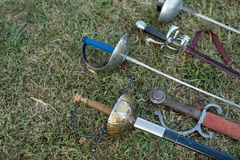 Swords and sabers Royalty Free Stock Image