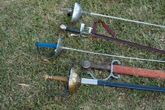 Swords and sabers Stock Images