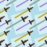 Swords seamless background design Royalty Free Stock Photos