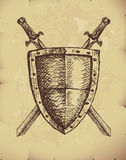 Swords and shield Stock Images