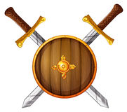 Swords and shield Royalty Free Stock Photo