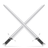 Swords. On a white background Royalty Free Stock Photos