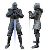 Swordsman del cavaliere Immagine Stock Libera da Diritti