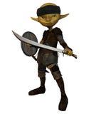 Swordsman del Goblin Fotografie Stock Libere da Diritti