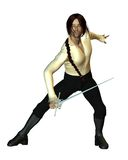 Swordsman Fencing Royalty Free Stock Photography