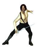 Swordsman Fencing Royalty Free Stock Photography