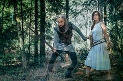 Swordsman and maiden