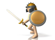 Swordsman takes up the sword. Royalty Free Stock Photography