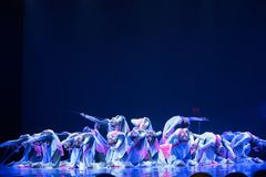 Swordsmanship dance-Chinese folk dance Royalty Free Stock Photography