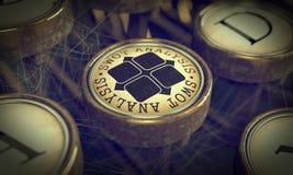 SWOT Analisis Key on Grunge Typewriter. Royalty Free Stock Photography