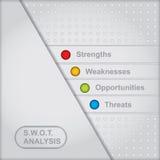 SWOT analizy diagram Obrazy Stock