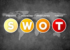 SWOT analizy strategii diagram Zdjęcia Stock