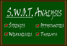 SWOT Analyse Stock Foto's