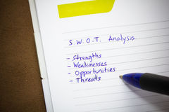 SWOT analysis. Royalty Free Stock Photography