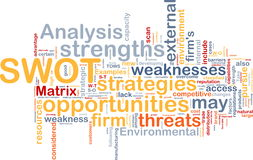SWOT analysis background concept Royalty Free Stock Photo