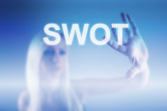 SWOT analysis business concept Stock Images