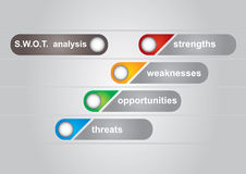 SWOT analysis diagram. With abstract background Royalty Free Stock Photography