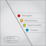 SWOT analysis diagram Stock Images