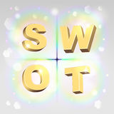 SWOT analysis illustration Stock Photo