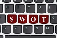 SWOT analysis on the internet Stock Photo