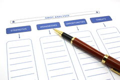 SWOT Analysis with Pen Royalty Free Stock Photo