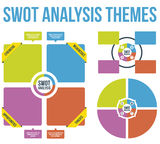 SWOT Analysis Themes Vector Stock Images