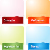 SWOT business diagram illustration Stock Images