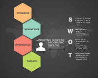 SWOT Business Infographic. The design concept of marketing Royalty Free Stock Images