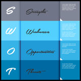 Swot business template Stock Images