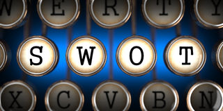 SWOT on Old Typewriter's Keys. Royalty Free Stock Photography