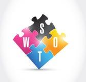 Swot puzzle illustration design Stock Image