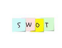 SWOT Sticky Notes Royalty Free Stock Image