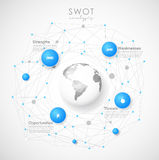 SWOT - Strengths Weaknesses Opportunities Threats Royalty Free Stock Photo
