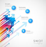SWOT - Strengths Weaknesses Opportunities Threats Royalty Free Stock Photos