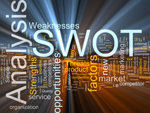 SWOT word cloud glowing Royalty Free Stock Photos