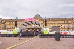 SWR Sommerfestival 2015, Στουτγάρδη - στάδιο στο νέο Castle Στοκ εικόνα με δικαίωμα ελεύθερης χρήσης