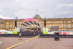 SWR Sommerfestival 2015, Stuttgart - Stadium am neuen Schloss Lizenzfreies Stockbild