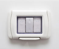 Swtich impermeabile della luce di sicurezza fotografia stock