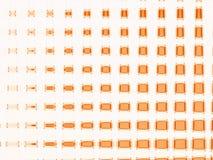 Swuared anaranjado Imagen de archivo