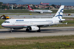 SX-DVR Aegean Airlines, Airbus A320-232 fotos de stock
