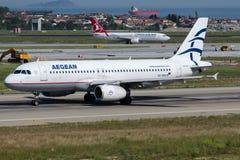 SX-DVR Aegean Airlines, Airbus A320-232 Stock Photos
