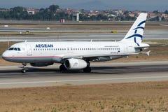 SX-DVT Airliens egeo, Airbus A320-232 fotografia stock libera da diritti