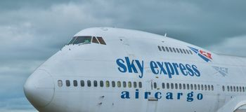SX-FIN - Boeing 747-200CF Sky Express Air Cargo Royalty Free Stock Photos