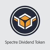 SXDT - Spectre Dividend Token - The Coin Icon. stock images
