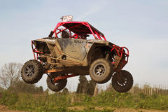 SXS automobile jumping Royalty Free Stock Photo
