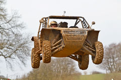 SXS car jump Stock Images
