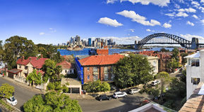 SY CBD Coombs Day panorama Royalty Free Stock Images