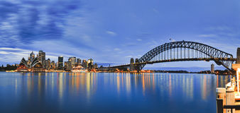 Sy CBD Kirribilli Blue Rise Fr Pier Pan Stock Photos