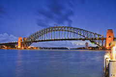 SY CBD Kirribilli Bridge blue Stock Photos