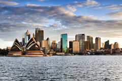 Sy CBD presunset Kirribilli Royalty Free Stock Photography
